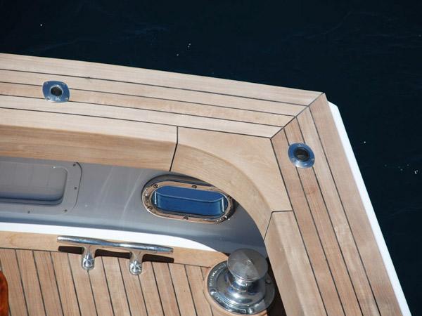 New teak deck on a Motor yacht