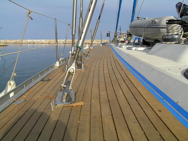 New decks on 80′ sailing yacht